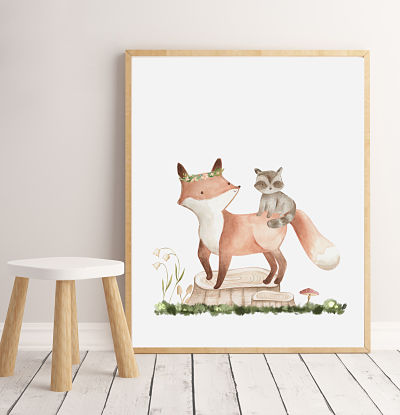 Woodland Babies - Fox - Digital File