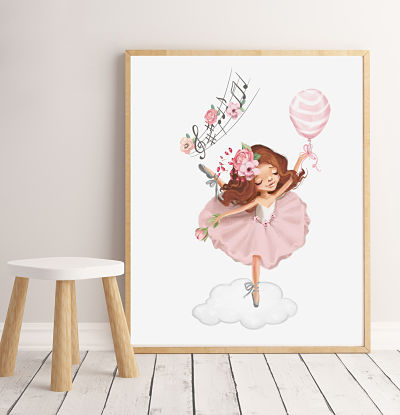 Art Print Magical Ballerina - Sienna - Large Size