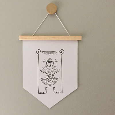 Mini Banner Bear Love