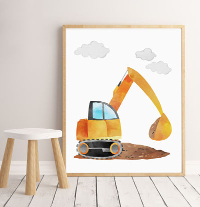 Construction - Excavator - Digital File